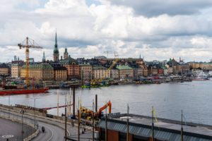 Construction works in the waterfront of the port of Stockholm